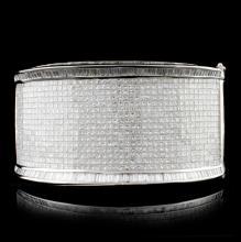 18K White Gold 60.00ctw Diamond Bracelet