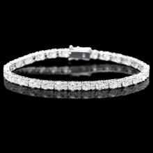 ^18k White Gold 9.00ct Diamond Bracelet
