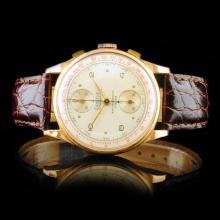 EXACTUS 18K Rose Gold 36mm Chronograph Watch