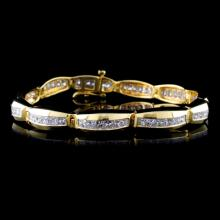 18K Yellow Gold 5.95ctw Diamond Bracelet