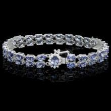 `14k Gold 20.00ct Tanzanite & 0.50ct Diamond Brace