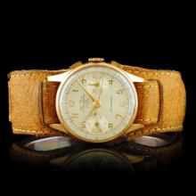 BUTEX Suisse 18K Gold 17-Jewel Chronograph 34mm Wa