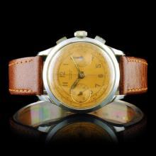 GLORIA Geneve Swiss 17-Jewel Chronograph 34mm Watc