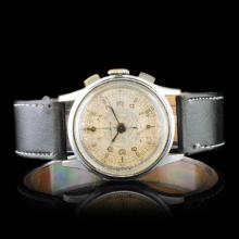 CLINTON Swiss 17-Jewel 33mm Chronograph Watch