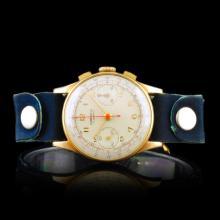 CORNELL Swiss 14K Gold 17-Jewel 34mm Chronograph