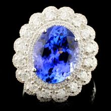 18K Gold 4.92ct Tanzanite & 1.07ctw Diamond Ring