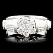 Platinum 0.63ctw Diamond Ring