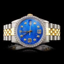 Rolex YG/SS DateJust Diam 36MM Wristwatch