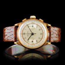 RECORD Swiss 17-Jewel Chronograph 40mm Wristwatch