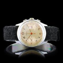 TELDA Swiss 17-Jewel Chronograph 34mm Wristwatch