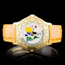 18K Gold Ebel 48 Voyager WorldTime Watch