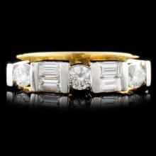 14K TT Gold 0.71ctw Diamond Ring
