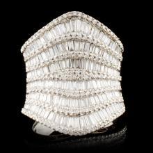 18K Gold 4.20ctw Diamond Ring