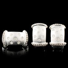14K Gold 0.66ctw Diamond Ring & Earrings
