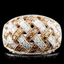 14K Gold 1.11ctw Diamond Ring