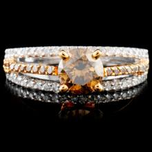 14K Gold 1.12ctw Fancy Color Diamond Ring