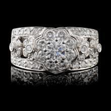 18K White Gold 1.26ctw Diamond Ring