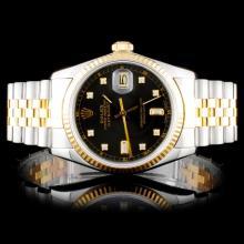 Rolex Two Tone DateJust Diamond 36MM Wristwatch