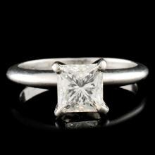 1.27ctw Diamond Platinum Solitaire Ring