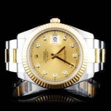 Rolex Two-Tone 41MM DateJust II Diamond Wristwatch