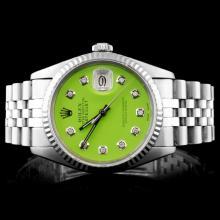 Rolex Stainless Steel DateJust 36MM Wristwatch