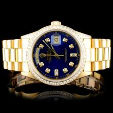Rolex 18K YG Day-Date Diamond Men's Watch