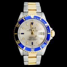 Rolex 40MM Submariner 18K & Stainless Steel Watch