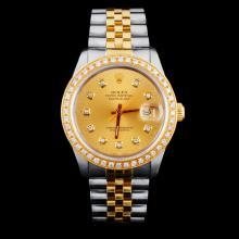 Rolex DateJust  YG/SS Diamond 36mm Watch