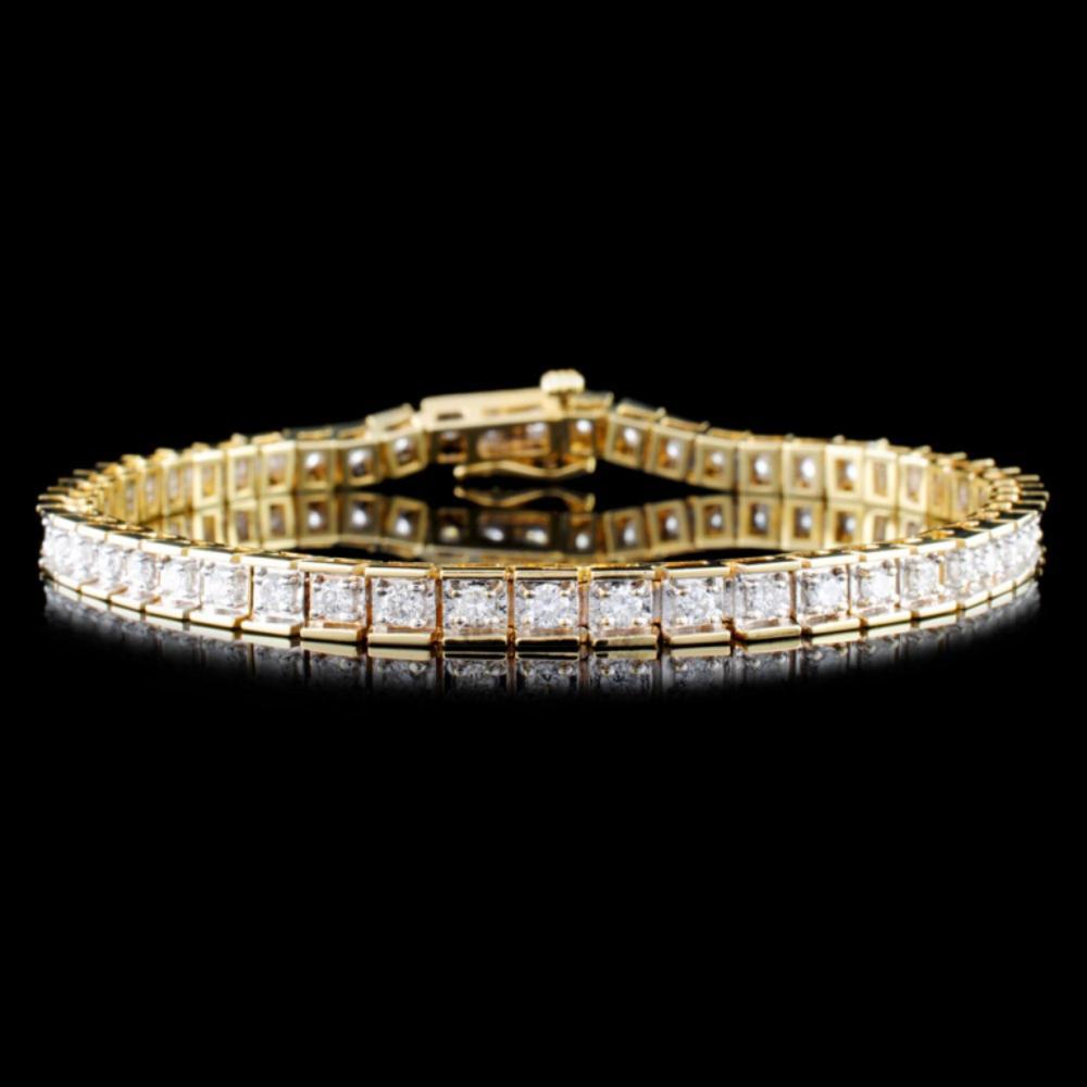 14K Gold 1.48ctw Diamond Bracelet