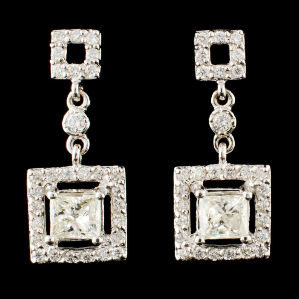 14K Gold 1.26ctw Diamond Earrings