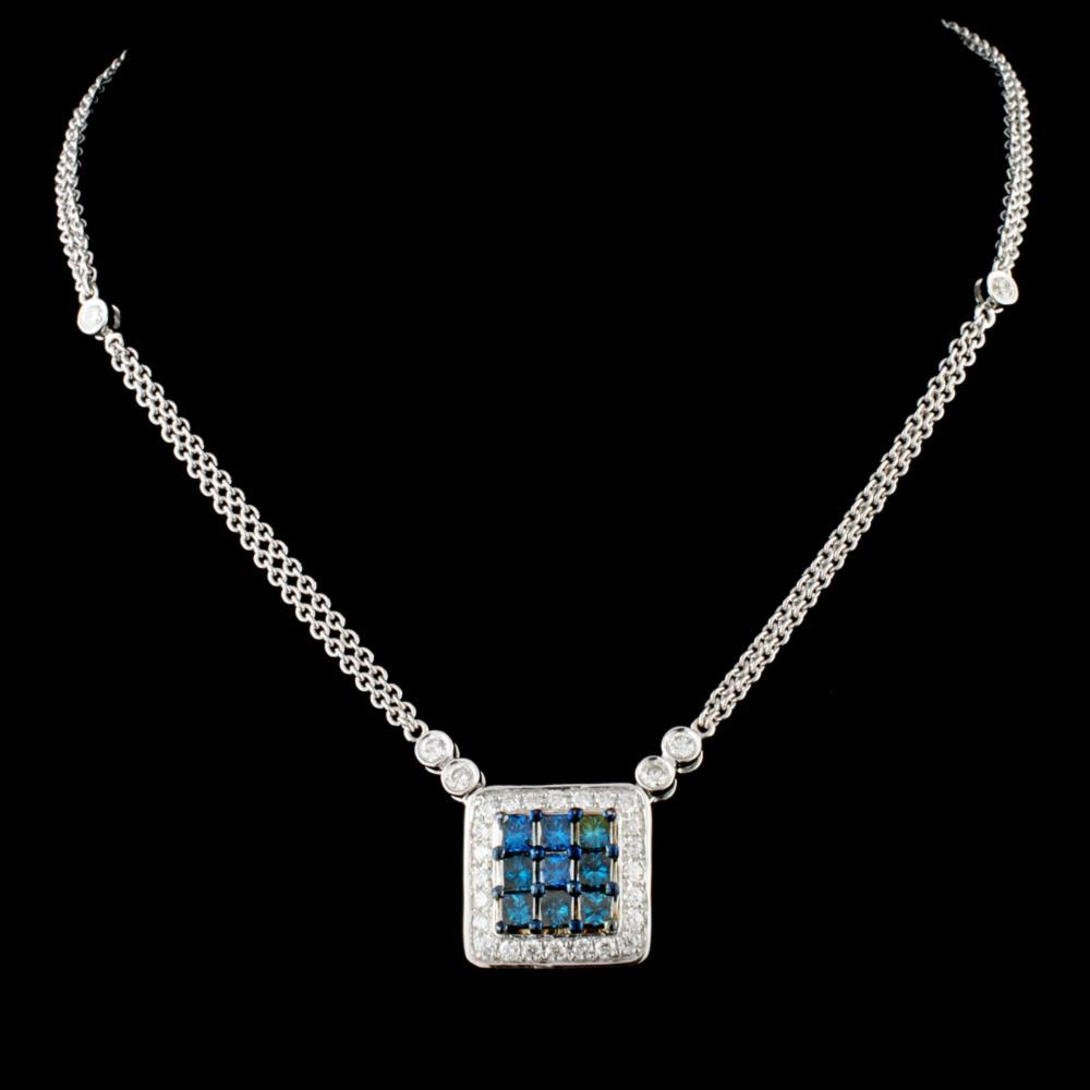 14K Gold 1.26ctw Diamond Necklace