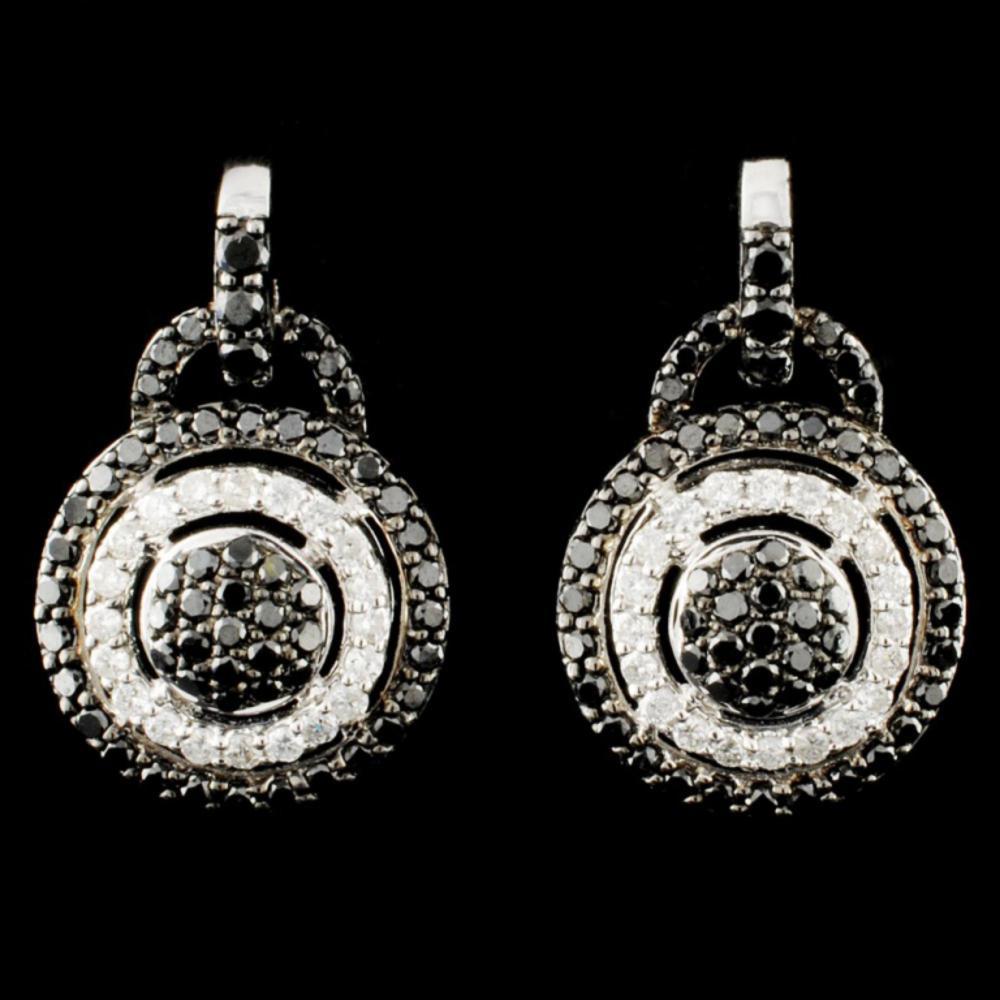 14K Gold 1.37ctw Fancy Color Diamond Earrings