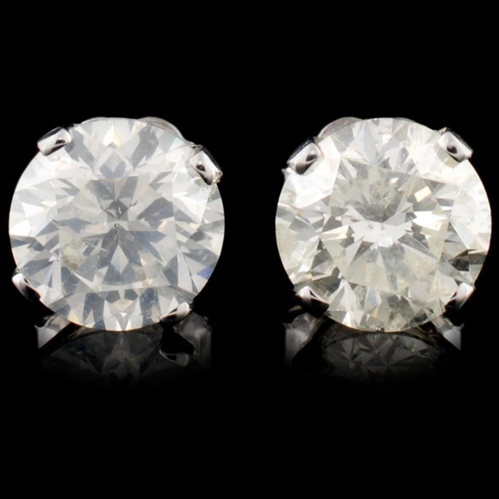 14K Gold 2.10ctw Diamond Stud Earrings