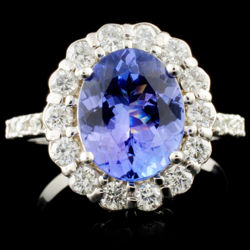 14K Gold 2.50ct Tanzanite & 0.69ctw Diamond Ring