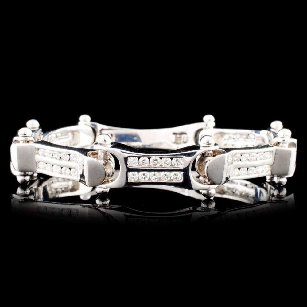 14K Gold 2.92ctw Diamond Bracelet
