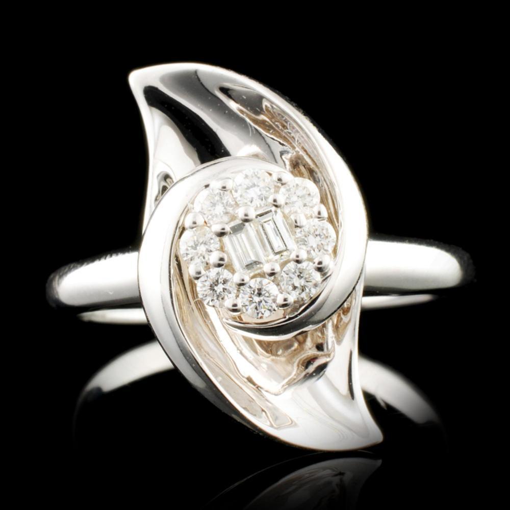 18K Gold 0.20ctw Diamond Ring