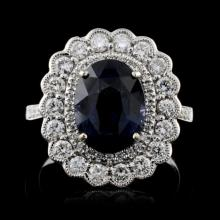 18K White Gold 3.52ct Spinel & 0.78ct Diamond Ring