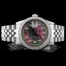 Rolex SS DateJust Men's 1.50ct Diamond Wristwatch