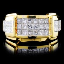 18K Yellow Gold 1.86ctw Diamond Ring