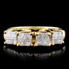 18K Yellow Gold 0.57ct Diamond Ring