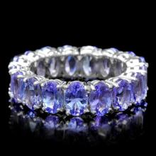 14k White Gold 7.70ct Tanzanite Ring