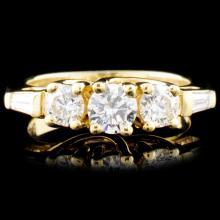 18K Gold 1.16ctw Diamond Ring