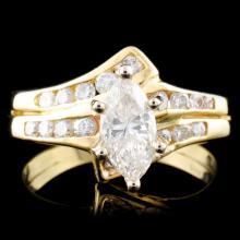14K Gold 1.19ctw Diamond Ring