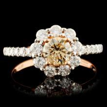 18K Gold 1.12ctw Diamond Ring