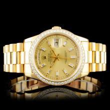 Rolex 18K Day-Date 1.50ct Diamond Wristwatch