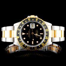 Rolex SS/YG GMT-Master II 16713 Wristwatch