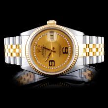Rolex DateJust Diamond Men's Watch