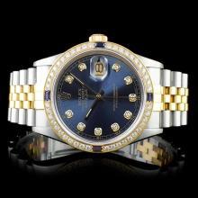 Rolex DateJust 18K/SS 1.50ct Diamond 36mm Watch