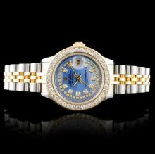 Rolex DateJust 18K/SS 1.50ct Diamond Ladies Watch