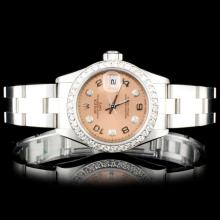 Rolex SS DateJust 26mm 1.00ct Diamond Wristwatch